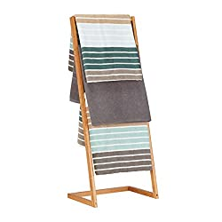 Relaxdays Free-Standing Bamboo Towel Holder