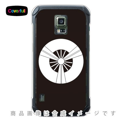 Coverfull 家紋シリーズ 六つ扇 (むつおうぎ) (クリア) / for GALAXY S5 ACTIVE SC-02G/docomo  DSC02G-PCCL-203-AAJ6