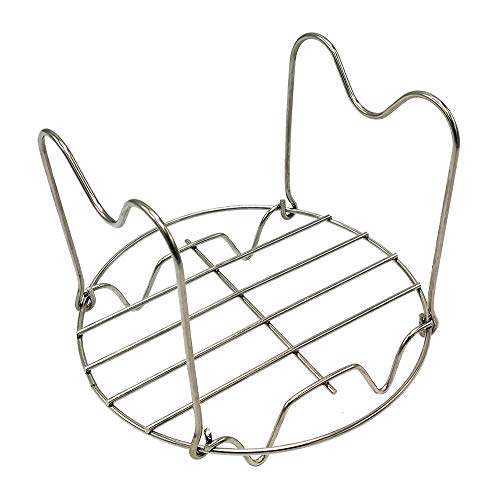 Steamer Rack Trivet with Handles for Instant Pot Duo Mini/Lux Mini/Ultra 3 Qt/Duo Plus 3 Qt and Other Electric Pressure Cookers 3 Qt 5 Qt