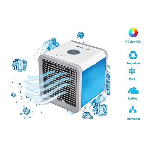 WSCF 3-in-1 Condizionatore Portatile Air Cooler Mini Raffrescatore Evaporativo Umidificatore Purificatore d'Aria USB Climatizzatore con Raffreddamento ad Acqua per Casa/Ufficio