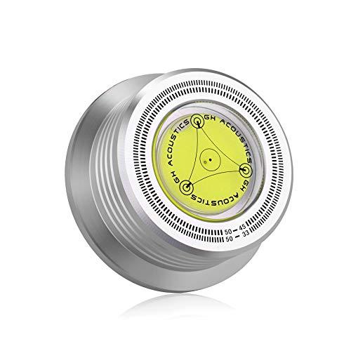 Nobsound 3-in-1-Plattenspieler Plattenstabilisator Gradient Stroboskop 50 Hz Silber