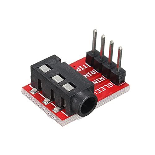 Módulo electrónico 50pcs módulo de extensión Junta 3,5 mm conector hembra de auriculares de audio TRRS zócalo Breakout Equipo electrónico de alta precisión