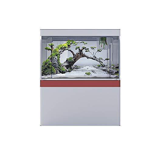 DUTUI Acryl Mini Tisch Aquarium,DREI Stufen Der Helligkeit,Atemlicht Im Inneren,Kann in Einer Vielzahl Von Umgebungen Wie Wohnzimmer,Esszimmer,Schlafzimmer