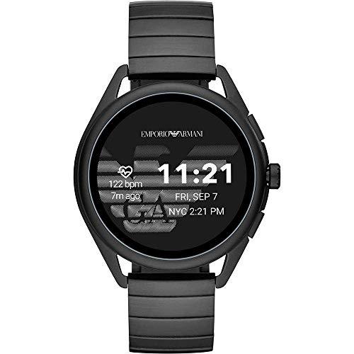 Emporio Armani Männer Touchscreen Verbunden mit Smartwatch -Edelstahl-Bügel ART5020 (Erneute)