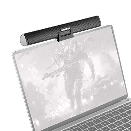 Mini Laptop Sound Bar Clip on, Portable USB Powered Loud Computer Speaker for Laptop, Notebook, PC Desktop, TV - Support for Windows System Not Support Apple Mac - Clip on Laptop or Stand on Desk