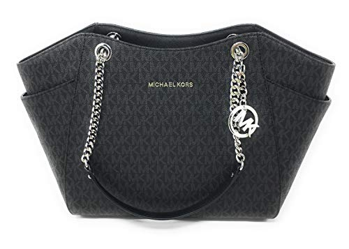 Details zu Michael Kors tasche bag jet set item chain lg shoulder braun acorn neu