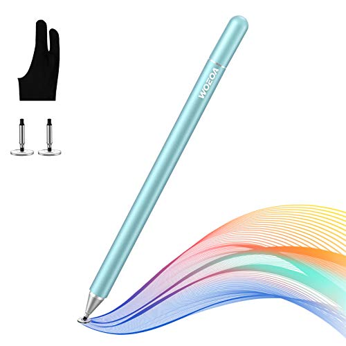 WOEOA Lápiz Stylus Capacitivo Universal, Stylus Pen 2 in 1 Bolígrafos Digitales para Pantalla Táctil Ipads, iPad Mini, Samsung,Teléfonos móviles,Smartphones y Tabletas(con Dibujo Guante)