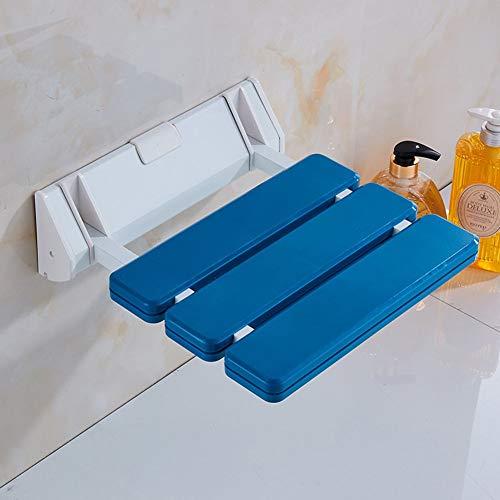 Siège de Douche, sièges pliants Tabouret de Douche Tabouret d'allée en métal pour Adultes Personnes âgées Salle de Bain Couloir Chaussures à Langer-Bleu