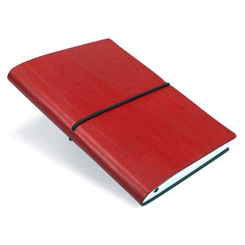 CIAK Notizbuch Mittelgroße Leder rot/Seiten liniert Elfenbeinfarben