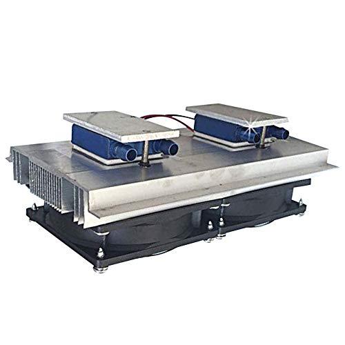 Silverdee 80W Aquarium Kaltwasser Chiller Maschine Kühlung Halbleiter Kühlung Thermoelektrischer Peltier-Kühler - Schwarz