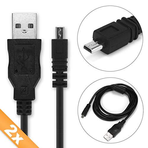 CELLONIC 2X Cable USB dato Compatible con Nikon D5300 D5200 D5100 D5000 D750 D7100 D7200...