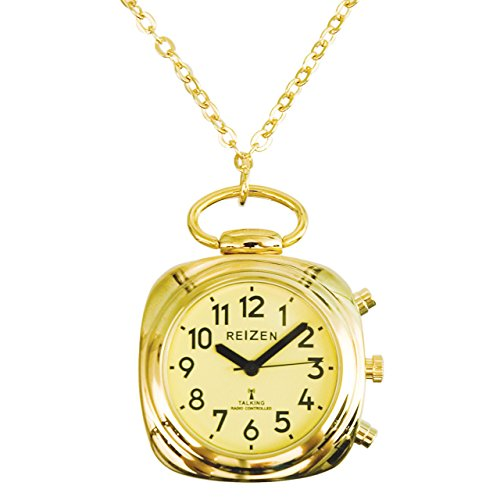 Talking Watch-Pendant-Atomic-Yellow Face-Gold-Tone
