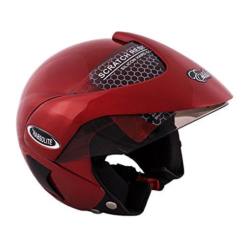 Autofy Habsolite Estilo Flip Up Helmet (Red, M)