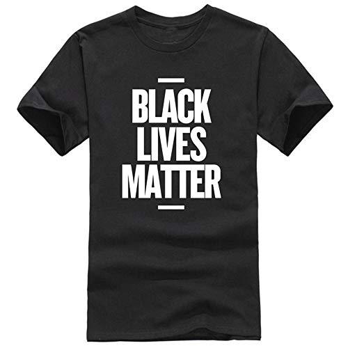 S-Chihir Lives Noire matière Shirt - Showtly Vie Noire Matière T-Shirt Homme BLM T Hauts Activiste Mouvement Vêtements décontractés Coton à Manches Courtes (Color : Black)