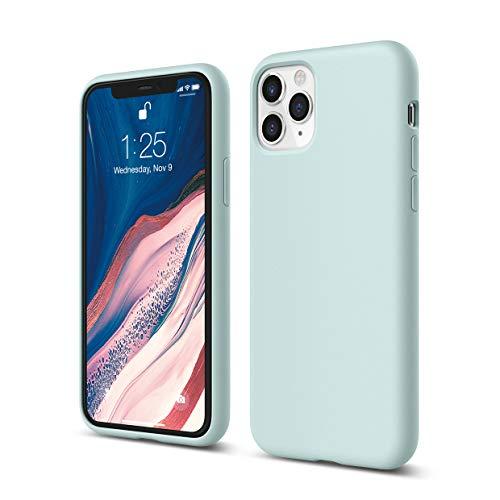 elago iPhone 11 Pro Hülle Silikon Hülle Kompatibel mit iPhone 11 Pro Handyhülle - Hochwertiges Silikon, Stoßfest, Voller Schutz [3-Layer Struktur], Erhöhte Kante für Display und Kamera (Baby Mint)