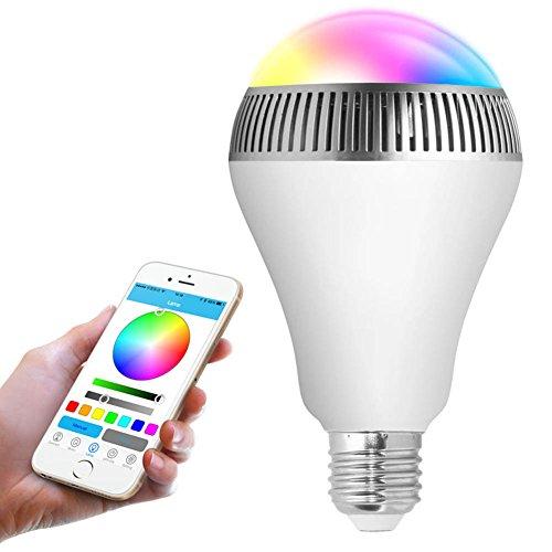 Soulitem draadloze Bluetooth luidspreker LED peerlicht 110V-240V E27 lampen-audio luidspreker voor Android iPhone 4S / 5S / 6