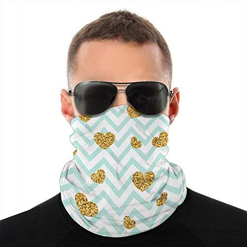 vbndfghjd 32 unisexe Bandanas écharpe bandeau cagoules couverture couvre-chef or coeur transparente motif bleu blanc géométrique Tube écharpe
