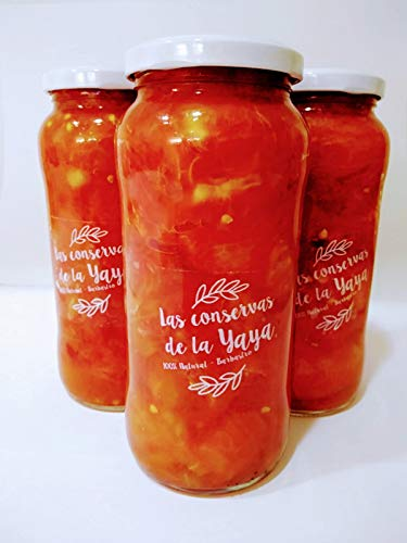 Pack de 3x Botes de 600 gr de conserva de Tomate Rosa de Barbastro trozeado. Producto 100% natural. de Tomate Rosa de Barbastro. Producto original, 100% natural sin pectinas ni colorantes