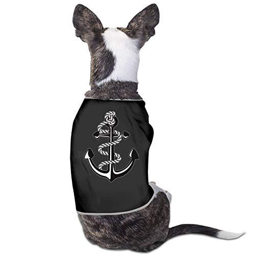 Florasun Hundehemd für Katzen und kleine Hunde, Marineblau, Größe S, Schwarz