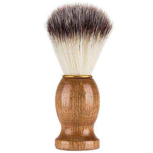 Knossus Pratico Pennello da Barba in Pelo di Tasso per Barba e Barba in Rasoio per Uomo Colore Legno
