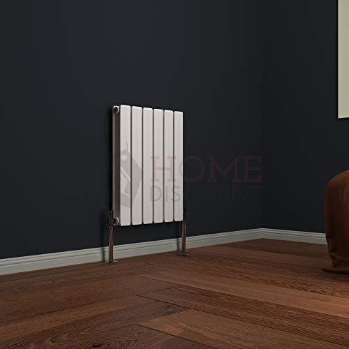 Modena Horizontale Doppelheizung, 60 x 40 cm, Designer Flächenheizung, Weiß von Vida Designs