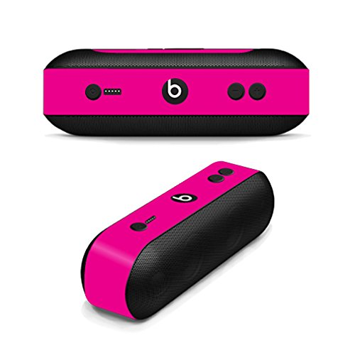 MightySkins Skin Compatible with Beats by Dr. Dre Pill Plus - Solid Hot Pink   Protective, Durable, and Unique Vinyl Decal wrap Cover   Easy to Apply, Remove, and Change Styles   Made in The USA