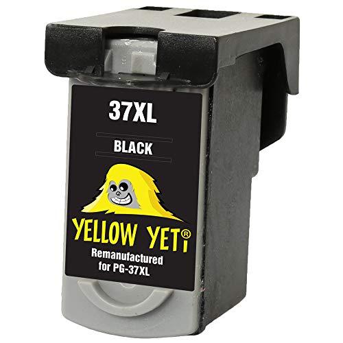 Yellow Yeti PG-37 Cartucho de Tinta remanufacturado Negro para Canon Pixma MP210 MP220 MX310 MX300 MP140 MP190 MP470 iP1800 iP2600 iP2500 iP1900 [3 años de garantía]