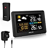 AETKFO Weather Station, Digital Weather Forecast with Outdoor Sensor, Temperature Humidity Monitor/Barometric/Alarm Clock