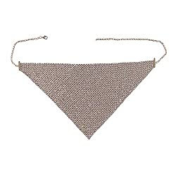 Gold Rhinestone Masquerade Mask Necklace Jewelry