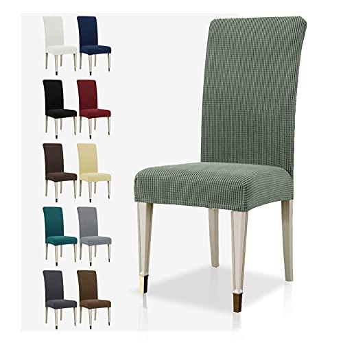 MAXIJIN Funda para silla de comedor súper elástica de licra Jacquard para comedor, hotel, cocina, ceremonia (verde guisante, 2)