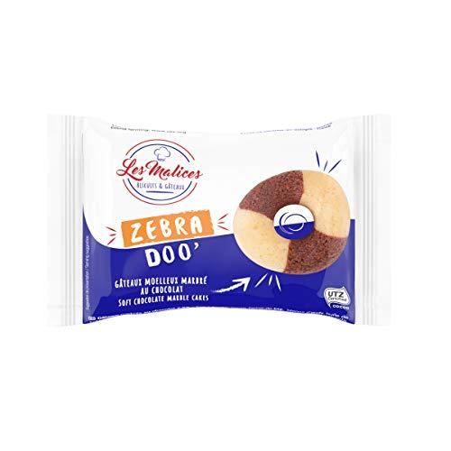 Les Malices - Zebra Doo Marmorierte Schokoladen-Donuts, Packung mit 50 Stück, 1500g