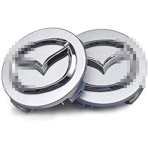 4pcs Auto Alloy Wheel Center Hub Caps Covers, Hub Caps For M-Azdas 5 6 323 626 RX8 7 MX3 MX5 Atenza Axela 57mm, Badge Dust-Proof Cover Wheel Trim Set Car Styling Accessori