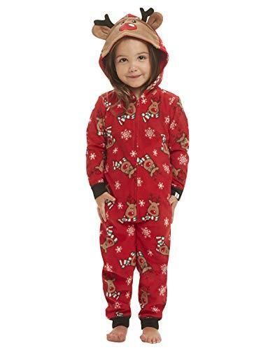 Weihnachts Schlafanzug Familie Einteiler Onesie Weihnachten Pyjama Damen Weihnachts Schlafanzüge Herren Kinder Jungen Mädchen Baby Weihnachtspyjama Jumpsuit Nachtwäsche Erwachsene Männer Winter 3M