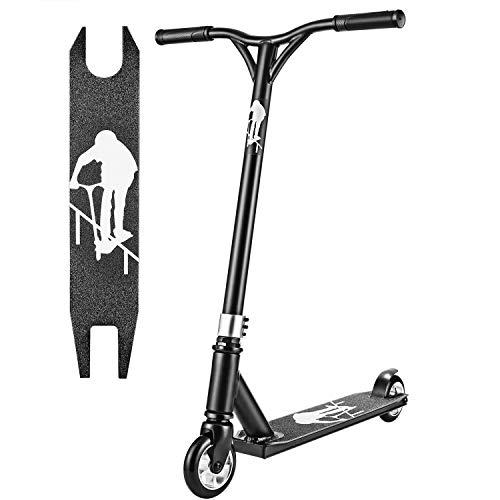 Hikole Trottinette Freestyle pour Enfant et Ado - Trottinette Pro Résistant aux Acrobaties et Sauts,100kg de Charge,80 cm de Hauteur