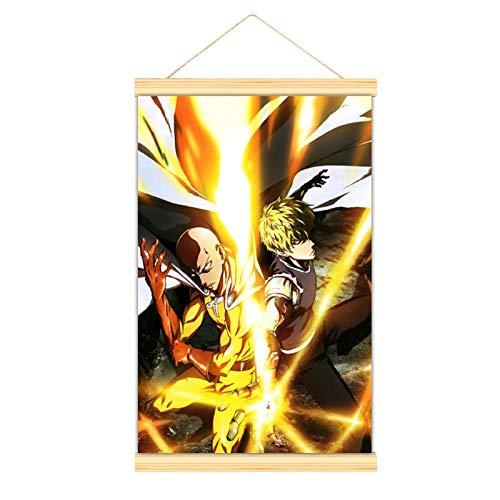 WPQL One Punch Man Anime Poster3 lienzo arte mural impresión de la imagen del niño dormitorio póster colgante 50 x 75 cm