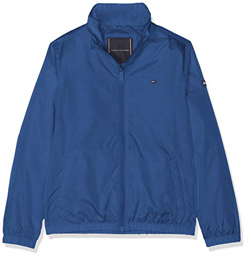 Tommy Hilfiger Jungen Essential Tommy Jacket Jacke, Blau (Limoges 484), 164 (Herstellergröße: 14)