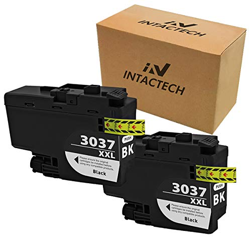 Intactech 2 Black Compatible Ink Cartridges Replacement for Brother LC3037 LC3037XXL LC3037BK High Yield Ink Tank Work for Printer MFC-J5845DW MFC-J5845DW XL MFC-J5945DW MFC-J6545DW MFC-J6945DW