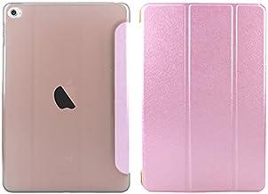 iPad mini3 mini2 retina ケース 和紙風 薄型軽量 一体型ケース ライトピンク 三つ折スタンド オートスリープ機能 スマートカバー ipadmini3 ipadmini2