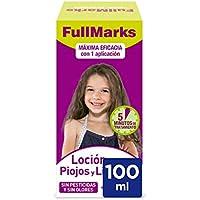 FullMarks Loción Antipiojos para Niños con Lendrera, Sin Pesticidas, Inoloro e Incoloro - 150 ml
