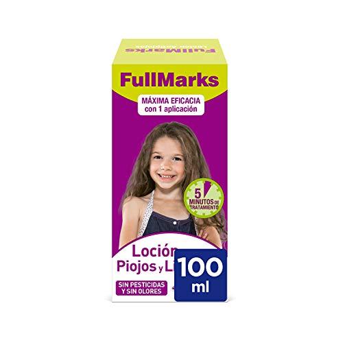 FullMarks Loción Antipiojos para Niños con Lendrera, sin Pesticidas, Inoloro e Incoloro - 100 ml