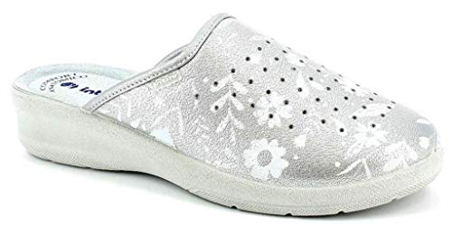inblu Pantofole SANITARIE da Donna MOD. 50-51 Argento (37)