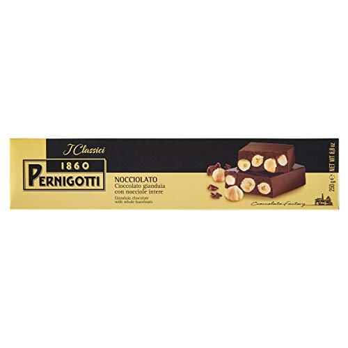 Pernigotti, Torrone Nocciolato Classico, al Cioccolato Gianduia con Nocciole Intere, Senza Glutine, 250 gr