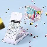 «BOOM!» Biglietto di auguri - Buon Сompleanno, Carta con sorpresa esplosiva. Divertente idea regalo per amici/amiche, fidanzati lui e lei.