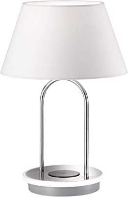 WOFI 10858 Lampe de table, Plastique, Chrom