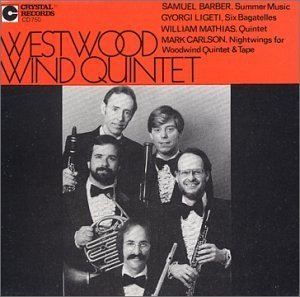 Westwood Wind Quintet by Westwood Wind Quintet, John Barcellona, Peter Christ, David Atkins, Kenneth Meye (1993-12-29)