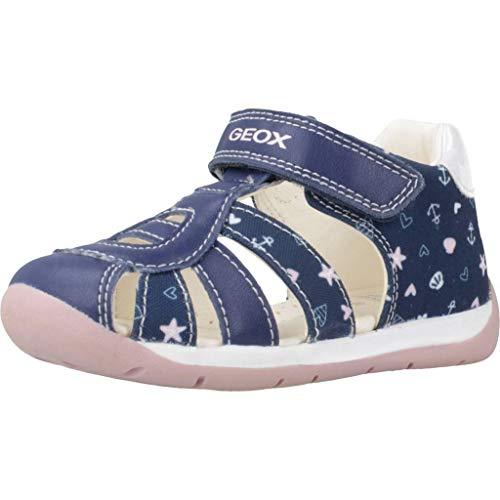 Geox B Each Girl C, Sandali Bambino Bimba 0-24, Blu (Navy/Pink C0694), 20 EU