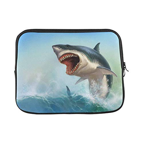Ocean Wave Shark Laptop Sleeve Case 14 Inch Briefcase Cover Protective Notebook Laptop Bag