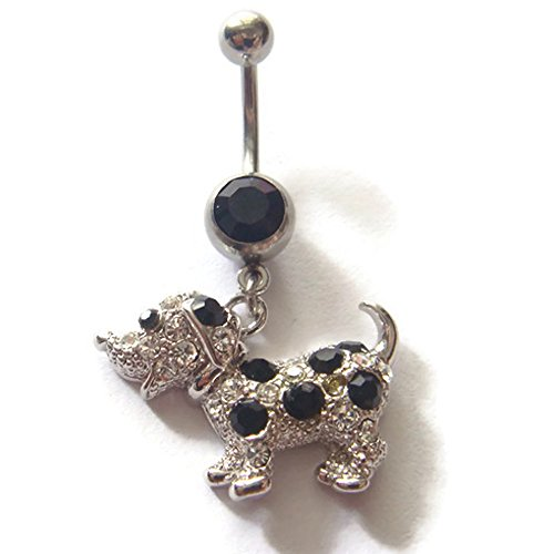 14g Puppy Dog Belly Navel Button Rings Ring Bar Body Piercing