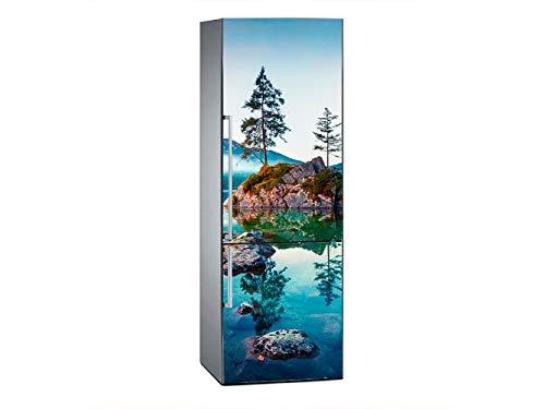 Vinilo para Frigorífico Paisaje Alpino Otoñal 185x60cm | Adhesivo Resistente y Económico | Pegatina Adhesiva Decorativa de Diseño Elegante