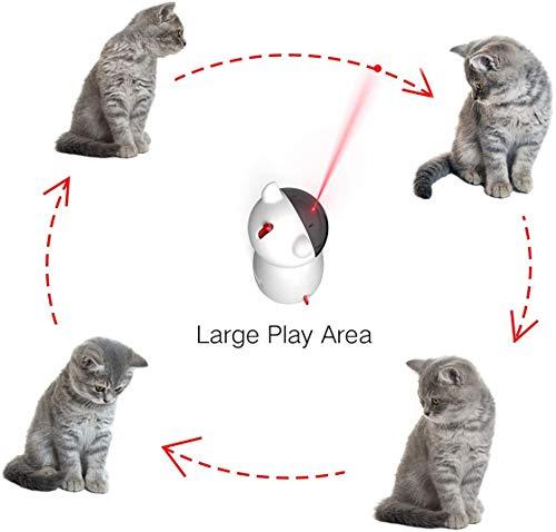自動猫のおもちゃ子猫のためのインタラクティブなレーザーおもちゃ-USB充電/バッテリー駆動ペットすべての猫のための電子ペット
